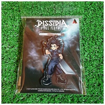 New   Dissidia Final Fantasy Acrylic Keyholder Keychain   Zack   Square Enix