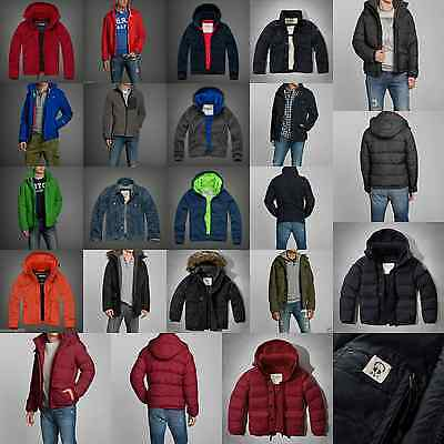 ABERCROMBIE & FITCH MEN SHERPA PARKA all weather Jacket NWT Size S M L XL XXL