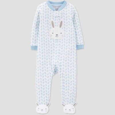 Baby Bunny Pajamas (Carters Baby Boys Blue Bunny Sleeper Rabbit Footie Pajamas NWT 3 6)