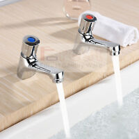 Bathroom Non Concussive Basin Taps - Self Closing Taps Pair Hot&cold Faucet Set - unbranded - ebay.co.uk