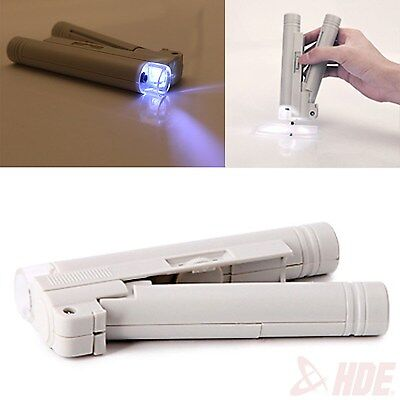 Handheld 100X Zoom LENS LED Lighted Pocket Jewelers Microscope Magnifier Loupe (Led Lighted Pocket)