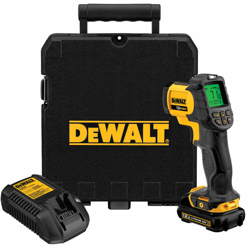 DeWalt DCT414S1 12V MAX Cordless IR Thermometer Kit
