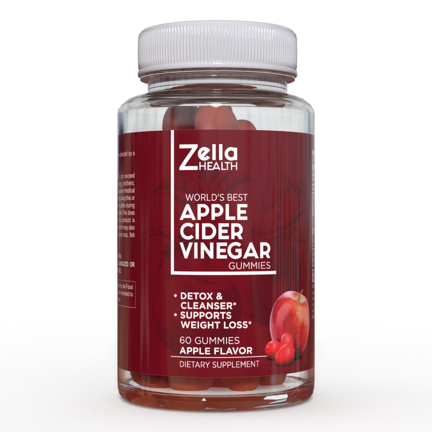 Zella Health -Premium- Apple Cider Vinegar Gummies Weight loss,detox- 60 pieces