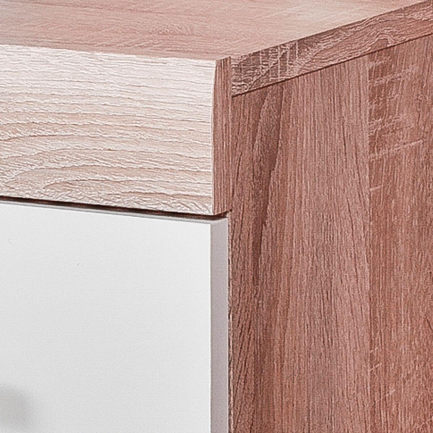 White sonoma oak large 2 door 2 drawer sideboard for Door 9 sonoma
