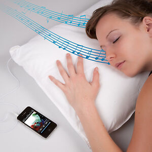 Wiki iMusic Pillow i-music cushion for iPhone ipod MP3 Player built in speakers
