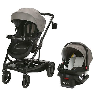 Graco UNO2DUO Travel System w/ Snuglock 35 Click Connect Infant Car Seat Gable
