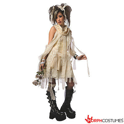 Womens Gothic Mummy Halloween Costume Ladies Goth Emo Punk Fancy Dress Outfit](Mummy Halloween Costumes)