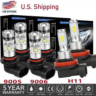 Combo 9005+9006+H11 6000K 5415W 812250LM CREE LED Headlight Bulb Set Hi Low Beam