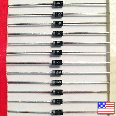 10x 10pcs 1n4001 Diode - 50v 1a In4001 - Top Quality - Fast Free Us Shipping