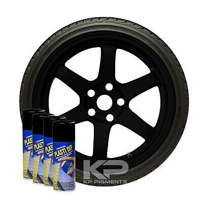 Performix Plasti Dip Black Rubber Coating Aerosol Spray Cans 11oz. 4 Pack
