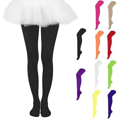 (Girls Kids Solid Candy Colors Footed Leggings Stockings Ballet Dance Tight-Pants)