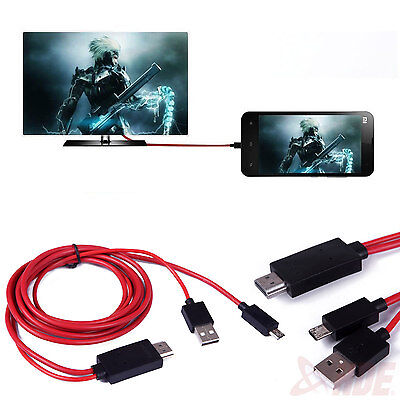 MHL Micro USB to HDMI 1080p HDTV AV Adapter Cable for Samsung Galaxy Devices on Rummage