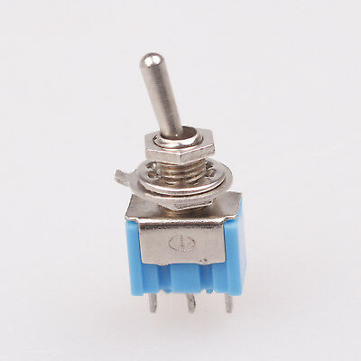 10pcs 3-pin Spdt On-on Toggle Switch 6a 125vac