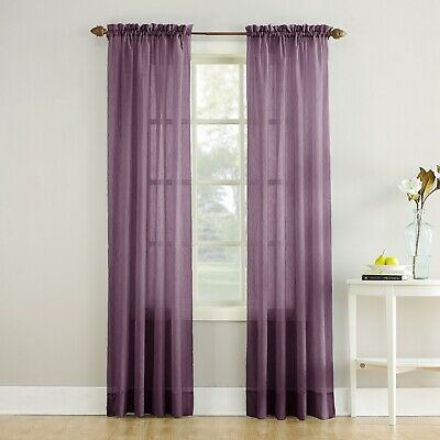 Erica Crushed Sheer Voile Rod Pocket Curtain Panel - 51