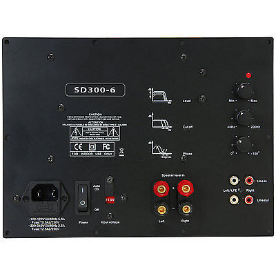 Yung SD300-6 300W Class D Subwoofer Amp Module w/6dB@30Hz