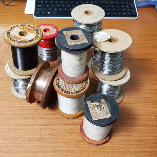 Lot Vintage Spools of Magnet Wire & Nichrome Various Sizes Drive-Harris