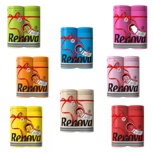 Renova Luxury Scented Colored Toilet Paper 6 Jumbo Rolls 3-Ply-180 Sheets