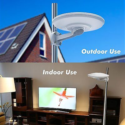 360  Reception Omni Directional Amplified Indoor Outdoor Hdtv Antenna Up 100Mile