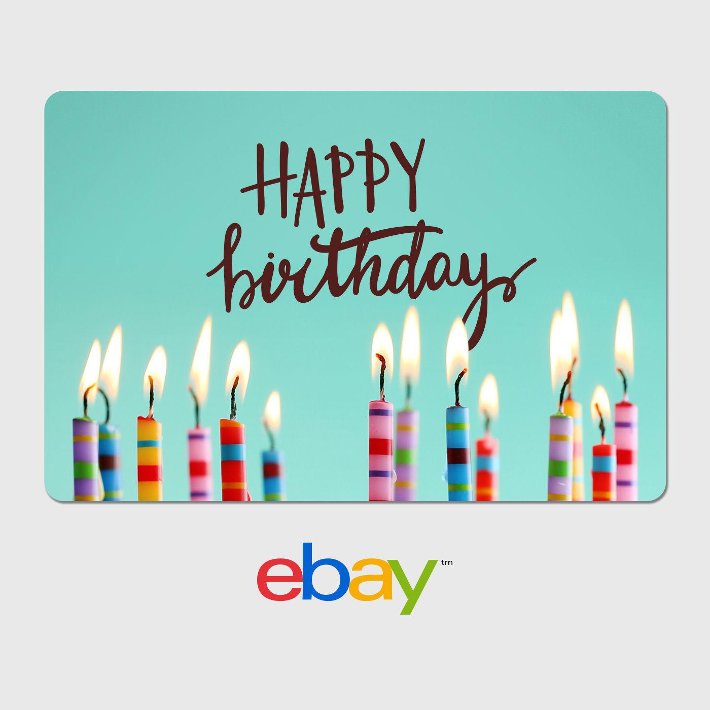 Купить eBay Digital Gift Card - Happy Birthday Candles -  Fast email delivery