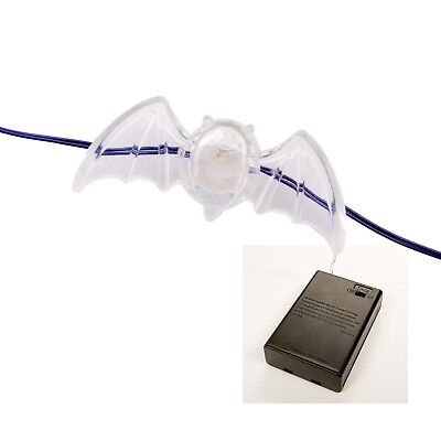 Philips 30ct Halloween LED Bat Dewdrop Lights Battery Operated Color Changing