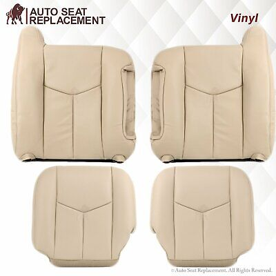 2007 Chevy Suburban Seat Covers - 2003-2007 Chevy Tahoe Suburban & GMC Yukon Synthetic Leather Seat Covers in Tan