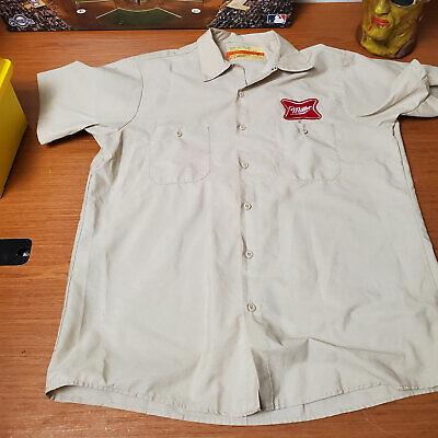 Miller High Life Driver Shirt Aratex Patch Logo SS Short Sleeve Worker Guy