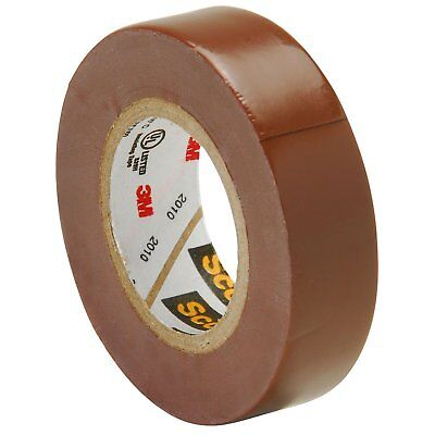 Scotch Vinyl Color Coding Electrical Tape 35 12 In X 20 Ft Brown
