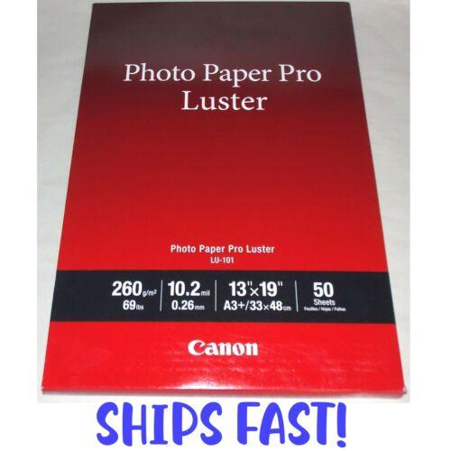 "Canon Pro LU-101 Luster Photo 13"" x 19"" 50-Count Paper 6211B005"