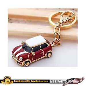 c60af4bc54 X1 MINI COOPER KEY CHAIN RED GOLD PLATED LIMITED EDITION GIFT METAL PARTS  REMOTE