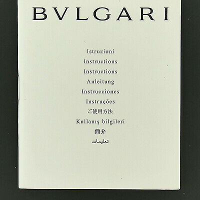 BVLGARI WATCH INSTRUCTION MANUAL BOOKLET for sale  Shipping to India