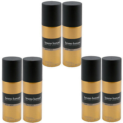 Bruno Banani MANS BEST 6 x 150 ml Deo Spray Deodorant for