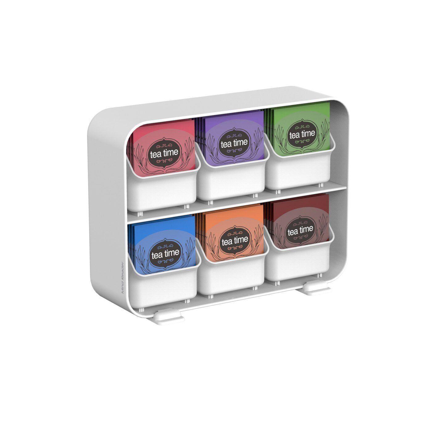 Tea Bag Storage Box Display Organizer Condiment Chest Holder