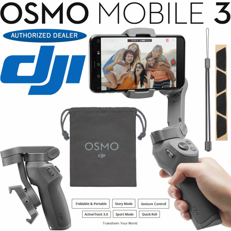 DJI Osmo Mobile 3 Gimbal Stabilizer for Smartphones Lightweight New 2019 Release