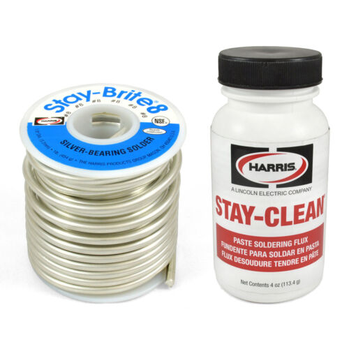 Harris Solder Kit SB861 & SCPF4 - Stay-Brite #8 Silver Bearing Solder with Flux