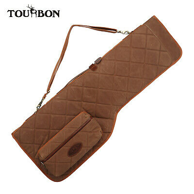 Tourbon Vintage Shotgun Case Take down Soft Wax Canvas Gun Safe Bag with Pocket