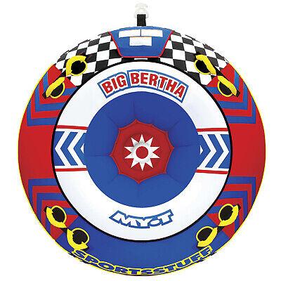 Sportsstuff 53-1329 Big Bertha Towable Water Boat Tube 1-4 Riders Inflatable Big Bertha Towable Tube