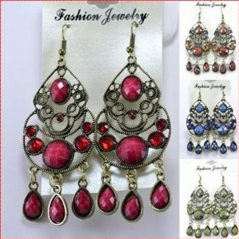 12PR DANGLE WHOLESALE LOT FASHION EARRINGS