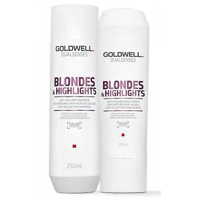 Kit Shampoo + Conditioner Antigiallo Goldwell Dualsenses Blondes & Highlights