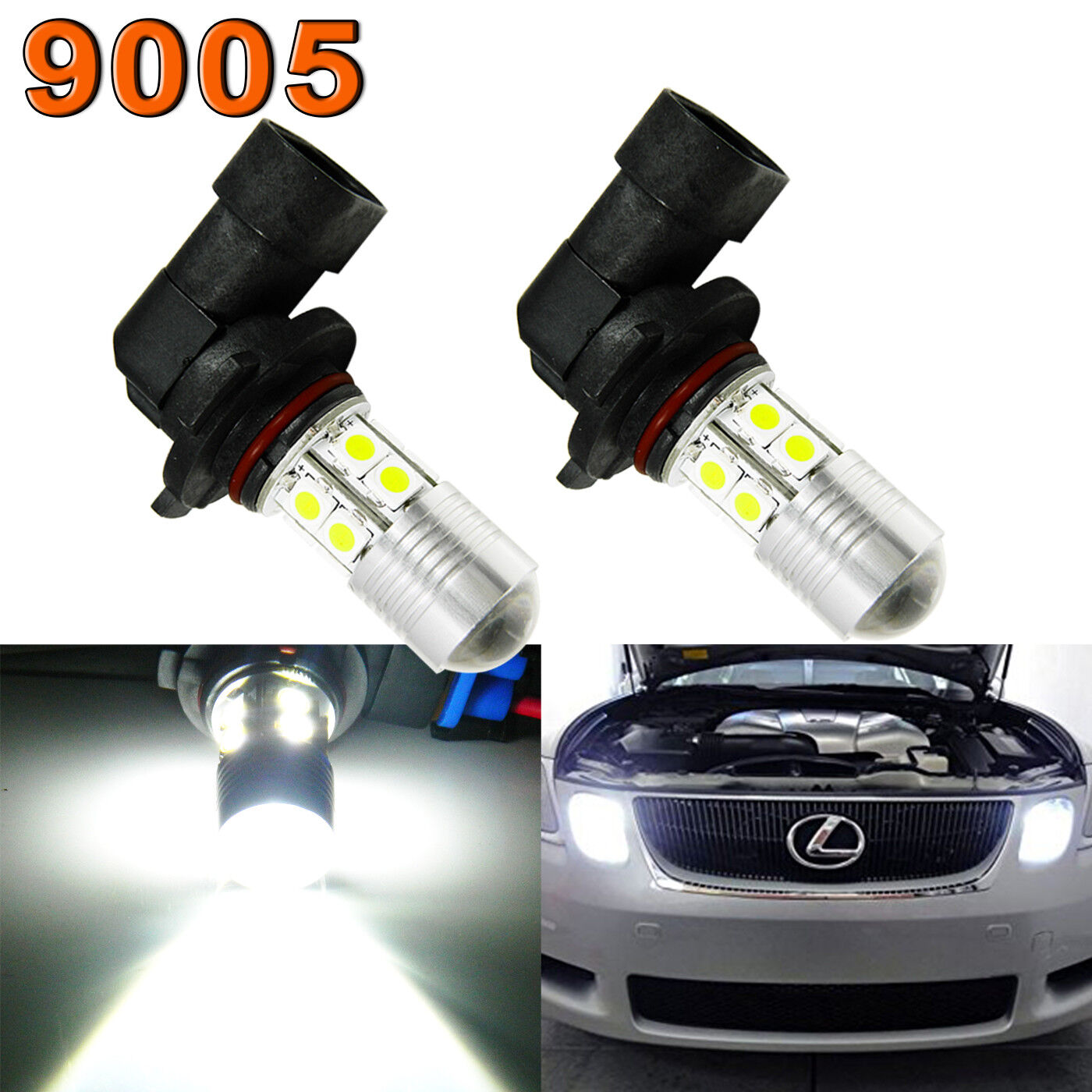 144-SMD 9005 LED High Beam Daytime Running Light Kit For Lexus IS GS ES LS RX LX
