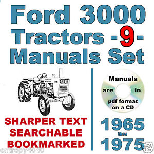 ford   cylinder tractor service parts owners manual