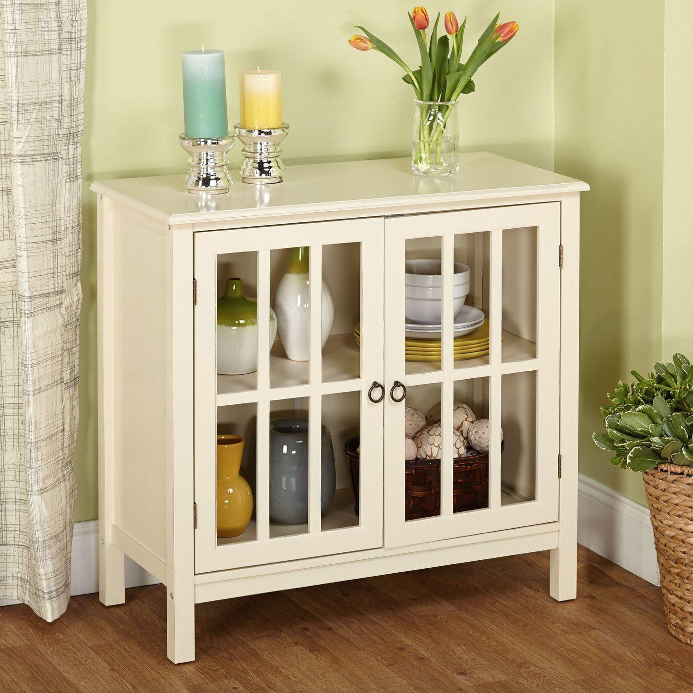 Modern Storage Cabinet White Sideboard Buffet Cupboard ...