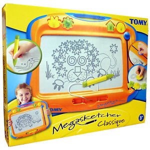NEW TOMY Megasketcher - Fun Childrens No-Mess Drawing Board with Eraser