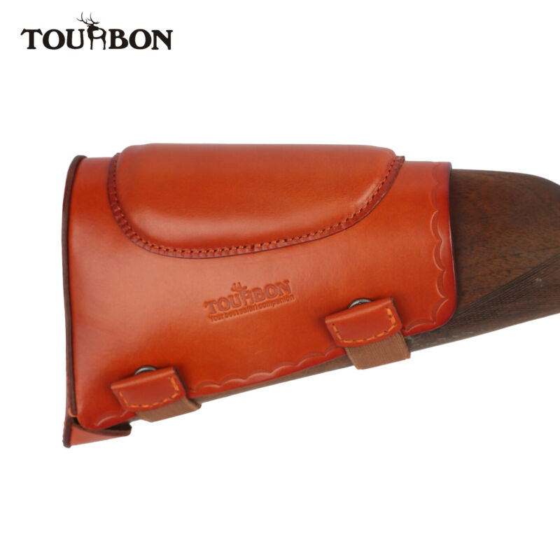 Tourbon Cowhide Leather Cheek Rest Gun Buttstock Holder Protection Cover New