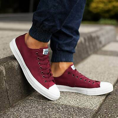 r II All Star 2 Ox Low Burgundy Womens Boys Girls SIZE 3 4 5 (Chuck Taylor Boys)