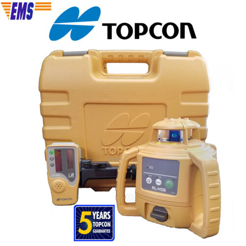 Topcon RL-H5B DB (Alkaline) Rotating Laser Level with Free Priority Express