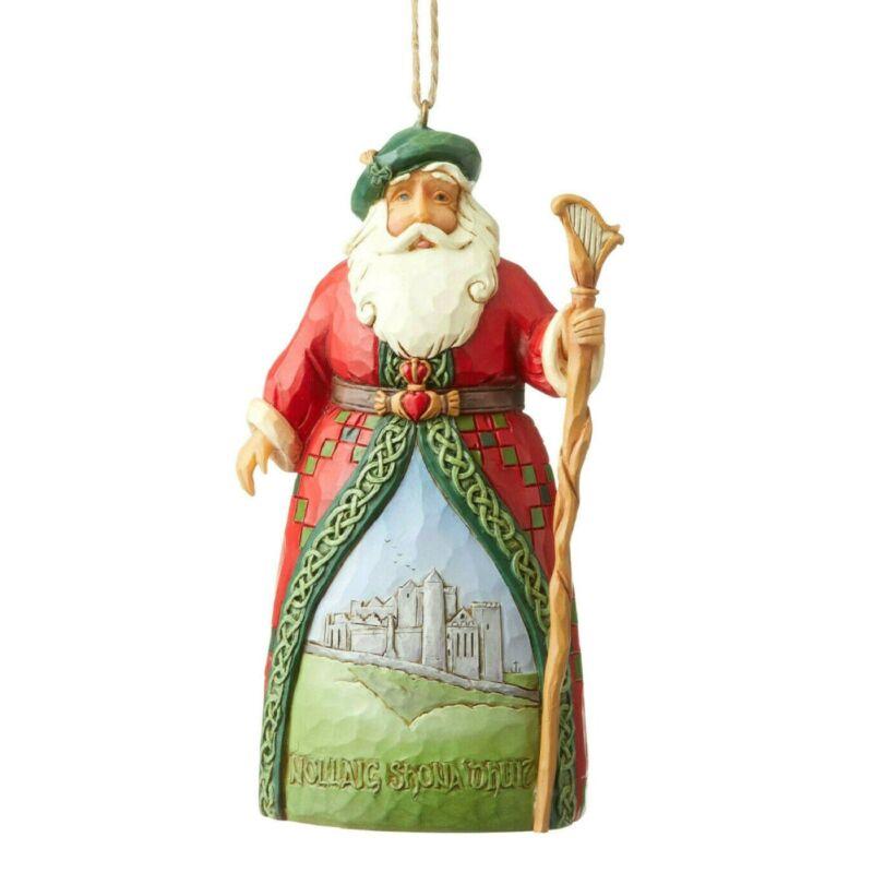 Jim Shore Irish Santa Christmas Ornament 6004309 New