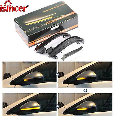 For BMW F30 F31 F35 F80 3er Smoked Dynamic LED Side Mirror Turn Signal Lights