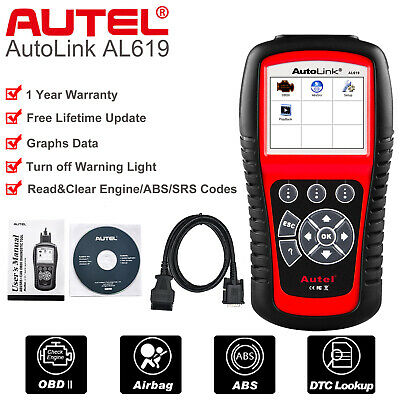Autel AL619 OBD2 Auto Diagnostic Tool Code Reader Scanner ABS Airbag SRS ML619