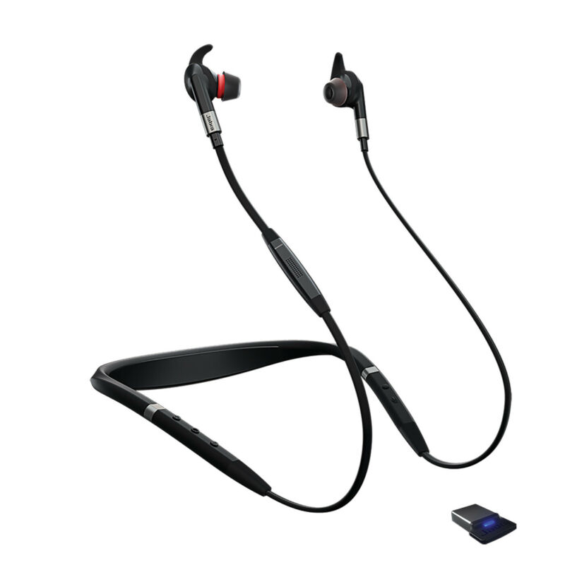 Jabra Evolve 75e UC Wireless Bluetooth Earbuds (Manufacturer Refurbished)