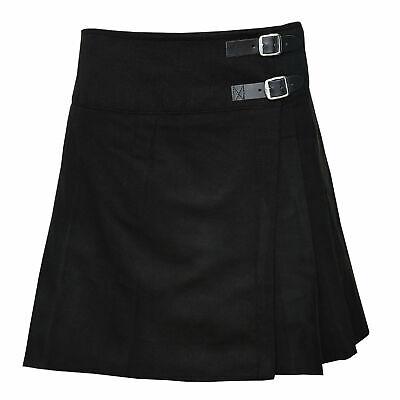 Kilts for women Girls Ladies Black Pleated Billie Skirt formal & casual wear. - Casual Wear For Girls